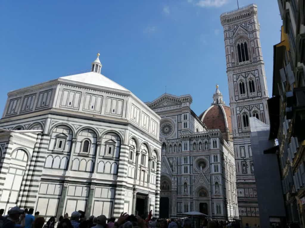 Cathedral Square: Baptistery, Cathedral and bell tower of Florence. The religious heart of Florence.