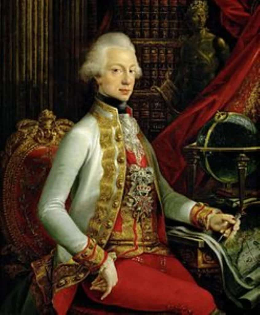 The Grand Duke Ferdinando III of the Lorena who decided to move to the Gregorian calendar.